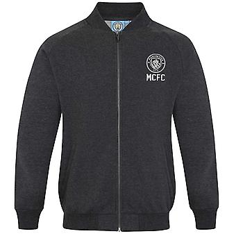 Manchester City FC Official Football Gift Mens Retro Varsity Baseball Jacket