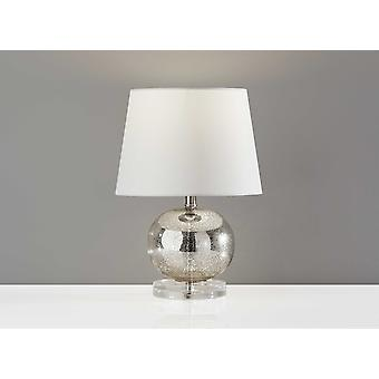 "10"" X 10"" X 15"" Silver  Table Lamp"