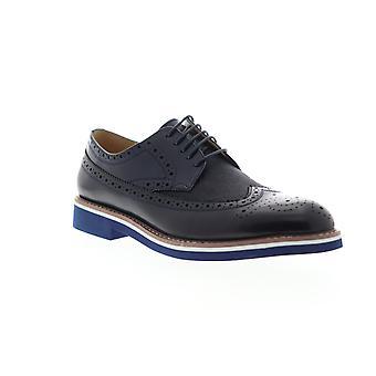 English Laundry Balham  Mens Blue Leather Dress Lace Up Oxfords Shoes