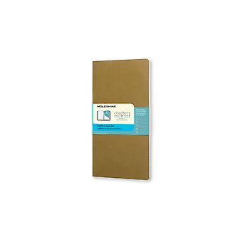 Moleskine chapter journals slim pocket with dotted pages - color tawny olive