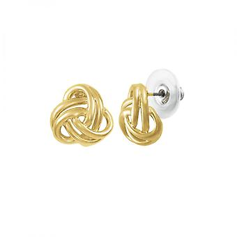 Eternal Collection Entwined Gold Tone Classic Pierced Earrings