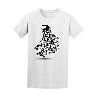 Hipster mand med Skateboard Tee mænds-billede af Shutterstock