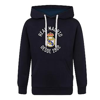 Real Madrid Mens Hoody Fleece Graphic Cadeau de football officiel