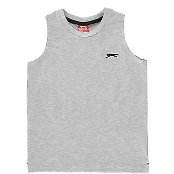 Slazenger Kinder S Weniger T-Shirt Baby ärmellose Rundhals T-Shirt Top