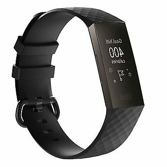 Replacement Wristband Strap Bracelet Band for Fitbit Charge 3[Large Fits Wrist 7.1