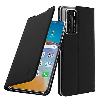 Cover Huawei P40 with a card holder video support Akashi Black