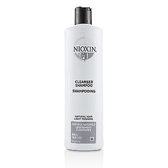Sistema purificador Derma 1 champú limpiador (pelo natural, adelgazamiento ligero) 224108 500ml/16.9oz