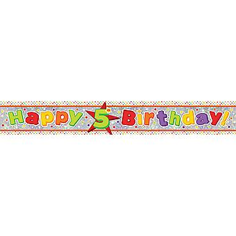 Amscan 5th Birthday Holographic Foil Banner