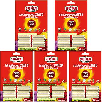 Sparset: 5 x SUBSTRAL® Celaflor® Pest-free Careo® Combi sticks, 10 pieces