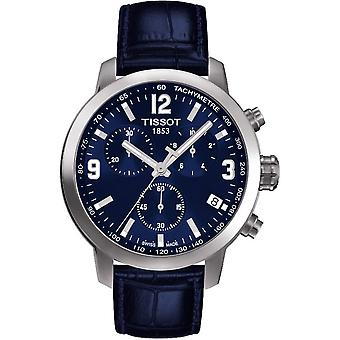 Tissot T055.417.16.047.00 Leather Chronograph Quartz Men's Reloj
