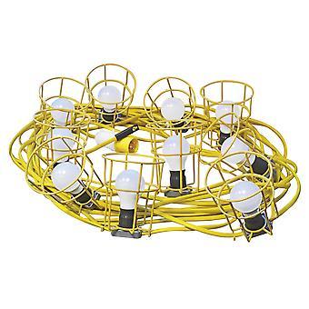 Faithfull HL-03ES-22-LED Festoon Lichter Low Energy 22m 10 LED Glühbirnen 110v