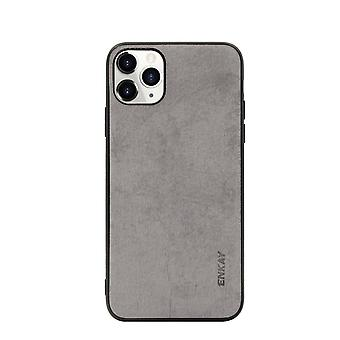 Voor iPhone 11 Pro Case Fabric Texture Soft Protective Fashionable Cover Grey