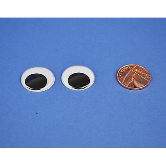 56 Hantverk Googly Ögon 20mm | Wiggly wobbly ögon
