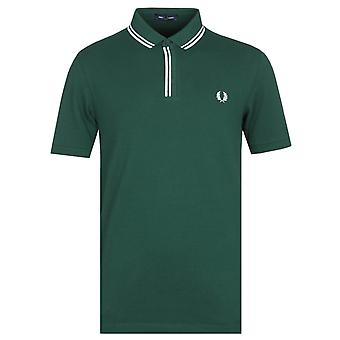 Fred Perry Tipped Placket Ivy Green Polo Shirt