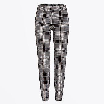 Cambio  - Rome - Checked Pants - Grey