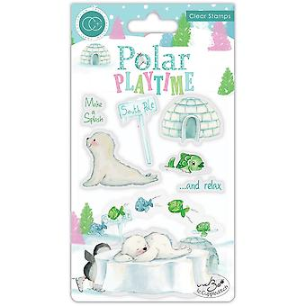 Craft Consortium Polar Playtime Make a Splash Clear Stamps