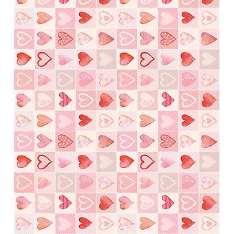 """أوراق حرفة Decoupage الكونسورتيوم 13.75 """"X15.75"""" 3/Pkg-الحب قلوب"""