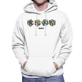 Rubik ' s 4 kubussen mannen ' s Hooded Sweatshirt