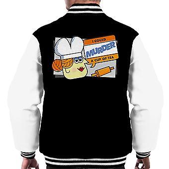 Hasbro Cluedo Rouva White Voisin murhata kupin Tea Men & s Varsity Jacket