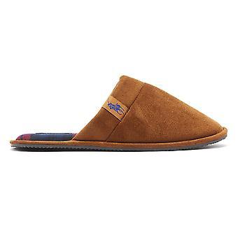 Ralph Lauren Summit Scuff Mens Snuff Tan Slippers