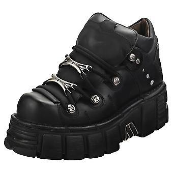 New Rock M106n-s6 Unisex Platform Shoes in Black