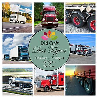 Dixi Craft Trucks 9x9 cm Toppers