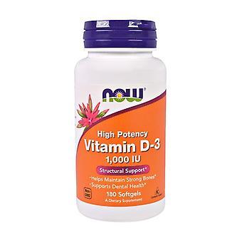 Vitamin D-3 High Potency 180 vegetable capsules