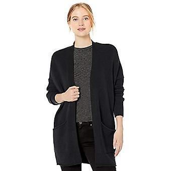 Marque - Daily Ritual Women's Cozy Boucle Coatigan Sweater, Noir, X-Sm...