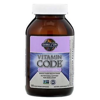 Tuin van het Leven, Vitamine Code, RAW prenatale, 180 vegetarische capsules