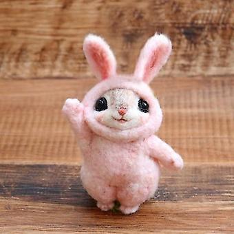 Kreative Haustiere Maus Kaninchen Eichhörnchen Wolle Filzen Spielzeug Puppe Kitting Kits