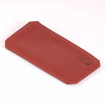 Carmine Cambridge Leather Glasses Case