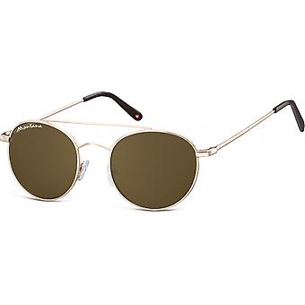 Sunglasses Unisex By SBG Aviator gold (S91D)