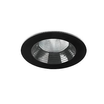 Leds-C4 Dako - LED al aire libre empotrable Downlight negro 8cm 695lm 3000K IP65