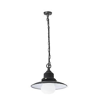 Forlight Avenue - 1 Light Outdoor Ceiling Pendant Light Black IP44