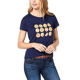 Maison Jules | Oranje-grafisch T-shirt met korte mouwen