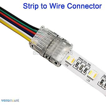 6-pin Led Connector Strip To Wire Or Strip To Strip Connection, Use Terminal