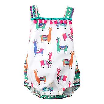 Sleeveless And Backless Summer Bodysuit For Newborn