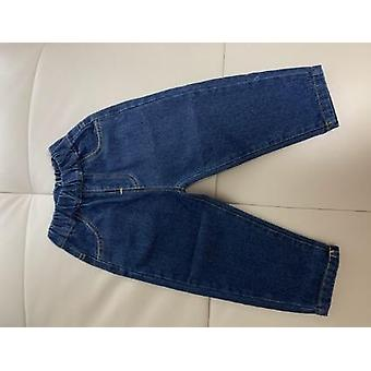 Autumn Loose Solid Color All-match Jeans- Baby Fashion Soft Denim Pants 1-7y