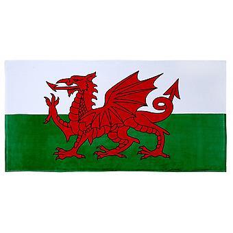 Union Jack Wear Wales St David Flag 100% Cotton Beach Toalla