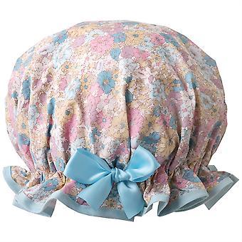 Pastel Flowers Shower Cap