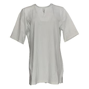 Denim & Co. Women's Top Essentials Perfect Jersey V-Neck White A365292