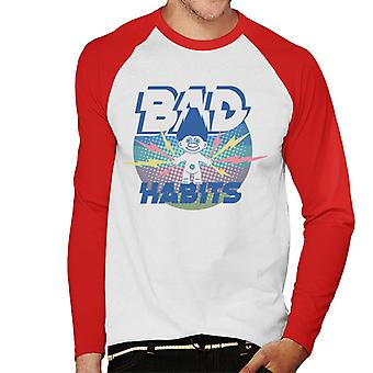 Trolls Bad Habits Lightning Men's Baseball Long Sleeved T-Shirt