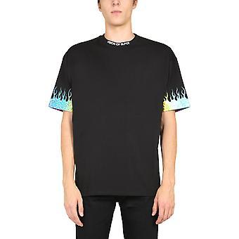 Vision Of Super Vosb1flrainbowblack Men's Black Cotton T-shirt