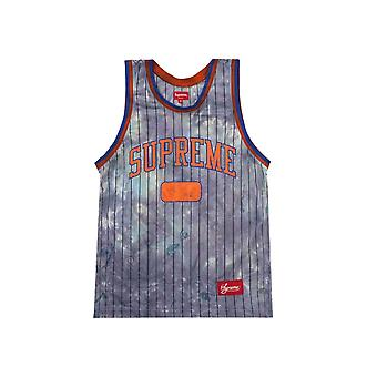 Supreme Dyed Basketball Jersey Royal - Vaatteet