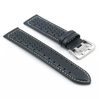 Strapsco perforated leather rally watch strap