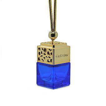 مصمم في سيارة الهواء معطر معطر الزيت ScentInspiBlue (ديزل فقط الشجعان بالنسبة له) العطور. غطاء ذهبي، زجاجة زرقاء 8 مل