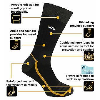 Offizielle JCB Strumpfwarenserie - Endurance Socken 9-11 6pk Schwarz