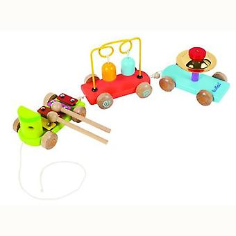 Boikido Musical Pull Along Wooden Train