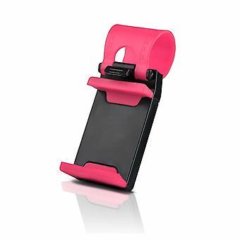 Bil rat mobiltelefonholder til alle mobiler Pink