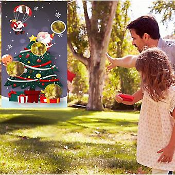 Christmas Sandbag Game Flag Parent-child Throwing Game Outdoor Sports Props